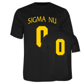 Performance Black Tee-Sigma Nu Custom Tee w/ Number