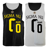 Black/White Reversible Tank-Badge