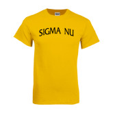 Gold T Shirt-Arched Sigma Nu