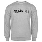 Grey Fleece Crew-Arched Sigma Nu