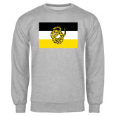 Grey Fleece Crew-Sigma Nu Flag