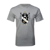 Grey T Shirt-Coat Of Arms