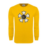 Gold Long Sleeve T Shirt-Badge