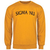Gold Fleece Crew-Arched Sigma Nu