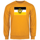 Gold Fleece Crew-Sigma Nu Flag