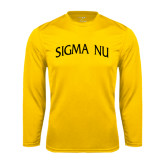 Performance Gold Longsleeve Shirt-Arched Sigma Nu