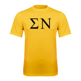 Performance Gold Tee-Greek Letters