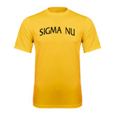 Performance Gold Tee-Arched Sigma Nu