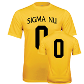 Performance Gold Tee-Sigma Nu Custom Tee w/ Number