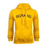 Gold Fleece Hoodie-Arched Sigma Nu