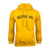 Gold Fleece Hoodie-Arched Sigma Nu