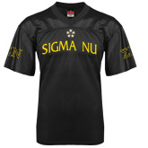 Replica Black Adult Football Jersey-Sigma Nu