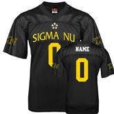 Replica Black Adult Football Jersey-Sigma Nu Personalized