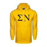 Under Armour Gold Performance Sweats Team Hood-Greek Letters