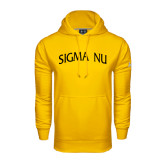 Under Armour Gold Performance Sweats Team Hoodie-Arched Sigma Nu