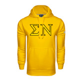 Under Armour Gold Performance Sweats Team Hoodie-Greek Letters w/ Trim