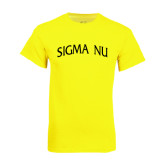 Neon Yellow T Shirt-Arched Sigma Nu