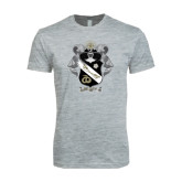 Next Level SoftStyle Heather Grey T Shirt-Coat Of Arms