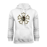 White Fleece Hoodie-Badge