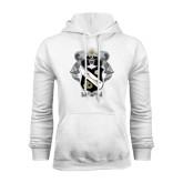White Fleece Hoodie-Coat Of Arms