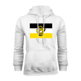 White Fleece Hoodie-Sigma Nu Flag