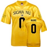 Replica Gold Adult Football Jersey-Sigma Nu Personalized