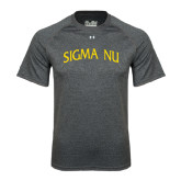 Under Armour Carbon Heather Tech Tee-Arched Sigma Nu