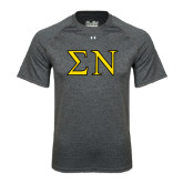 Under Armour Carbon Heather Tech Tee-Greek Letters w/ Trim