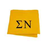 Gold Sweatshirt Blanket-Greek Letters
