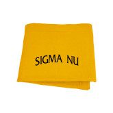Gold Sweatshirt Blanket-Arched Sigma Nu