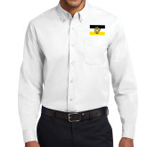 White Twill Button Down Long Sleeve-Sigma Nu Flag