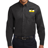 Black Twill Button Down Long Sleeve-Sigma Nu Flag