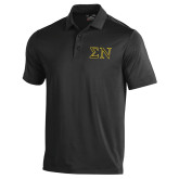 Under Armour Black Performance Polo-Greek Letters w/ Trim