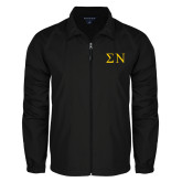 Full Zip Black Wind Jacket-Greek Letters