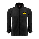 Fleece Full Zip Black Jacket-Sigma Nu Flag