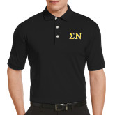 Callaway Tonal Black Polo-Greek Letters w/ Trim