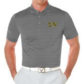 Callaway Opti Vent Steel Grey Polo-Greek Letters w/ Trim