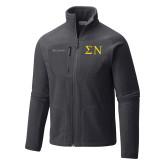 Columbia Full Zip Charcoal Fleece Jacket-Greek Letters