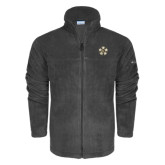 Columbia Full Zip Charcoal Fleece Jacket-Badge