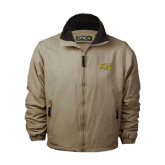 Khaki Survivor Jacket-Greek Letters w/ Trim