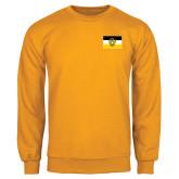 Gold Fleece Crew-Sigma Nu Flag