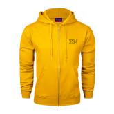 Champion Gold Fleece Full Zip Hood-Greek Letters w/ Trim