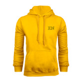 Gold Fleece Hoodie-Greek Letters w/ Trim