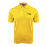 Gold Dry Mesh Polo-Greek Letters w/ Trim