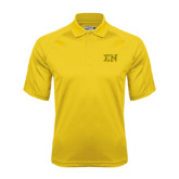 Gold Dri Mesh Pro Polo-Greek Letters w/ Trim