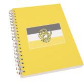 Clear 7 x 10 Spiral Journal Notebook-Sigma Nu Flag