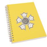 Clear 7 x 10 Spiral Journal Notebook-Badge