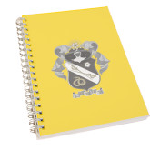 Clear 7 x 10 Spiral Journal Notebook-Coat Of Arms