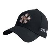 Black Heavyweight Twill Pro Style Hat-Badge