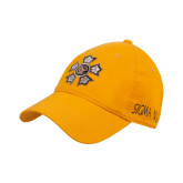 Gold Twill Unstructured Low Profile Hat-Badge
